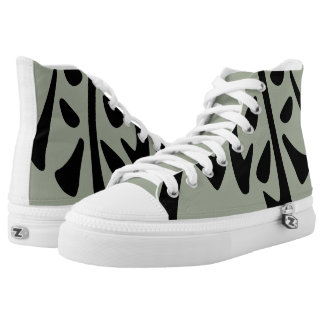 Chinese love character on grey background printed shoes