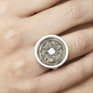 Chinese Lucky Coin Ring