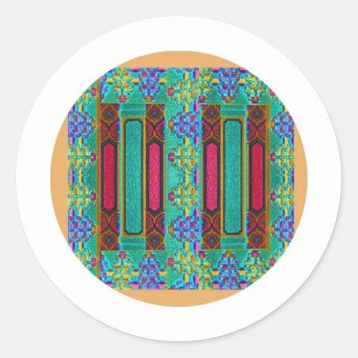 Chinese lucky double door design round sticker zazzle for Door design round
