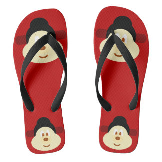 Chinese Male Hat 鮑 鮑 - Adult Flip Flop