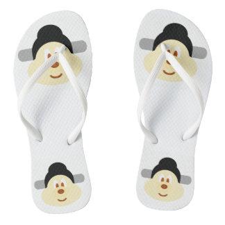 Chinese Male Hat 鮑 鮑 - Adult Slim Flip Flop