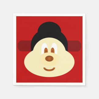 Chinese Male Hat 鮑 鮑 Paper Napkin