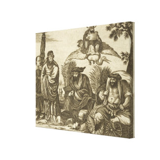 Chinese Merchants Consulting Fortune Tellers to En Canvas Print