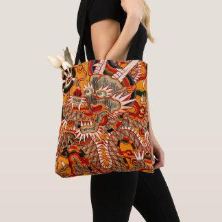 Chinese Ming Dragon art Tote Bag