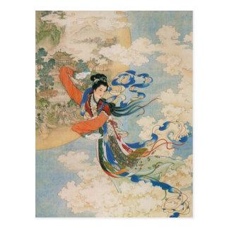 Chinese Moon Goddess postcard