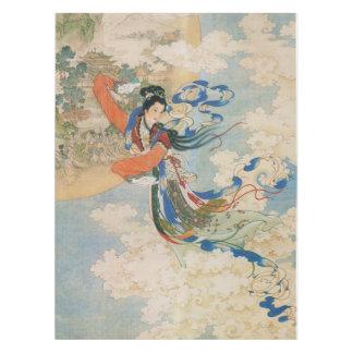 Chinese Moon Goddess table cloth