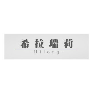 Chinese name for Hilary 20153_3.pdf Print