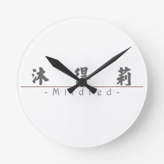 Chinese name for Mildred 20248_4 pdf Round Wall Clocks