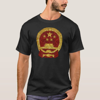 Chinese National Symbol in Glitter T-Shirt