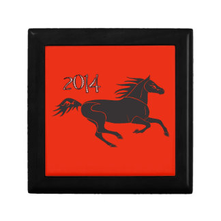 Chinese New Year 2014 Year of the Horse Box Small Square Gift Box