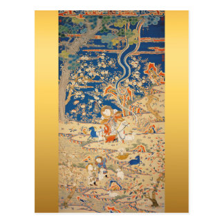 Chinese New Year 2015 - Goats Chinese Tapestry 1 Postcard
