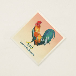 Chinese New Year 2017 Rooster Paper Napkins Disposable Serviette