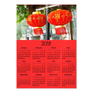 Chinese New Year 2018 Calendar Magnetic Photo Card