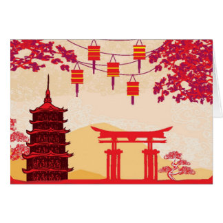 Chinese New Year Card - Traditional Lanterns