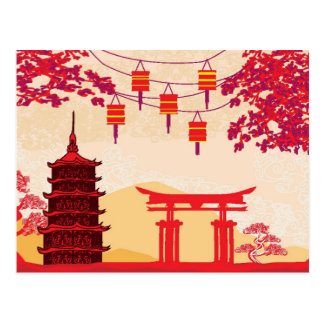 Chinese New Year Card - Traditional Lanterns Postcard