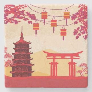 Chinese New Year Card - Traditional Lanterns Stone Coaster