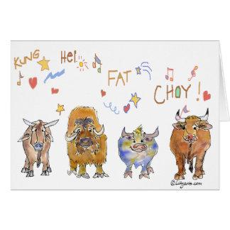 Chinese New Year Cartoon Ox Card