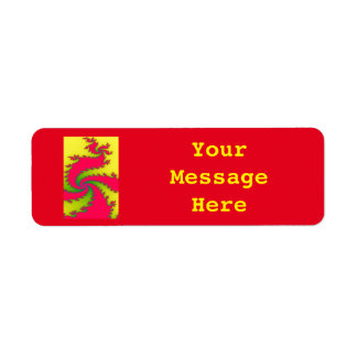 Chinese New Year Dragon Custom Labels