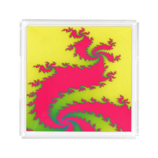 Chinese New Year Dragon Fract Acrylic Serving Tray
