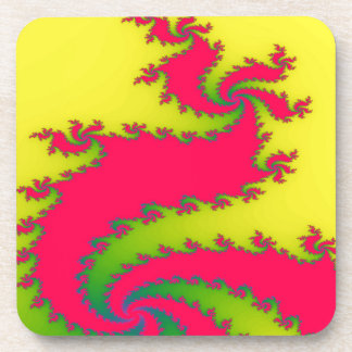 Chinese New Year Dragon Fractal Coaster