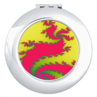 Chinese New Year Dragon Fractal Compact Mirror