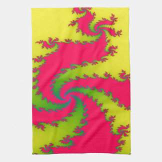 Chinese New Year Dragon Fractal Kitchen Towel
