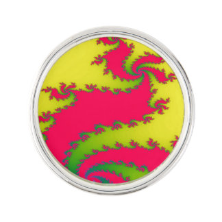 Chinese New Year Dragon Fractal Lapel Pin