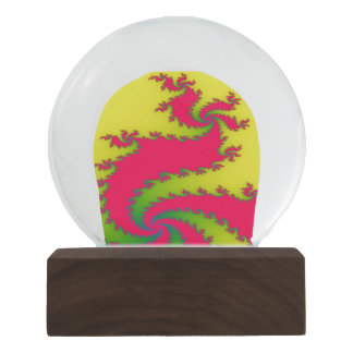 Chinese New Year Dragon Fractal Snowglobe Snow Globes