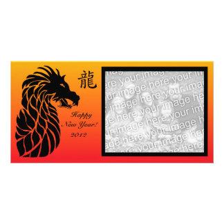Chinese new year dragon photo card