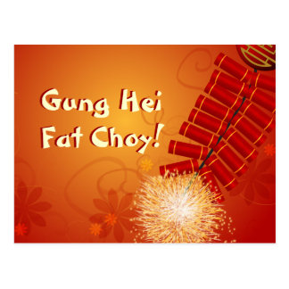 Chinese New Year Firecrackers Postcard