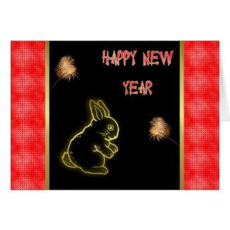 Chinese New Year Happy New Year 2011 rabbit Card