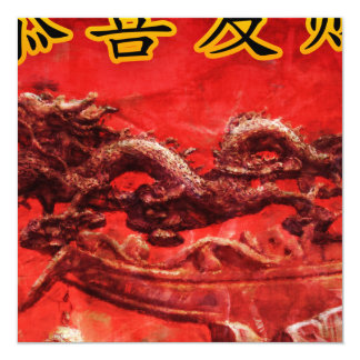 Chinese New Year in Chinese Calligraphy Painting Card