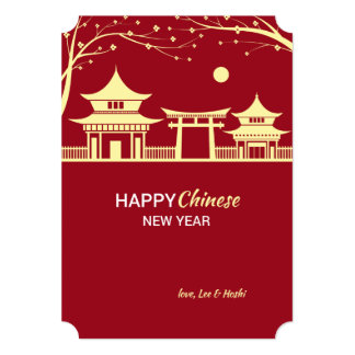 Chinese New Year Landscape Holiday Card