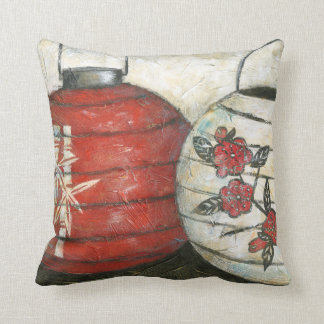 Chinese New Year Lanterns with Floral Print Cushion