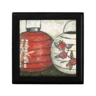Chinese New Year Lanterns with Floral Print Small Square Gift Box