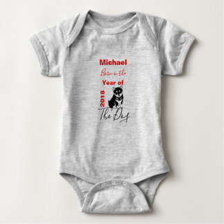 Chinese New Year of the Dog  Personalized Baby Bodysuit