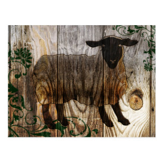 chinese new year of the wooden sheep 2015 postcard