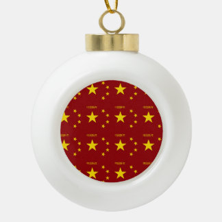 Chinese New Year Pattern Ceramic Ball Decoration