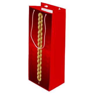 Chinese New Year Ram Goat Gold Coin Wine Gift Bag