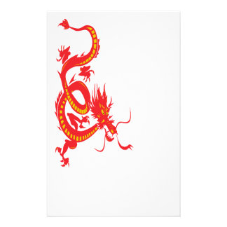 Chinese New Year Red Dragon Stationery Design