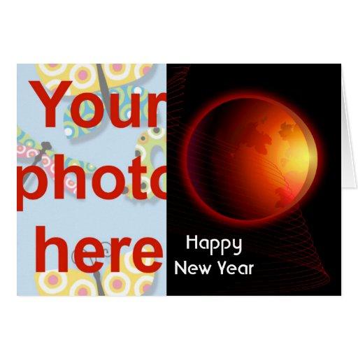 Chinese New Year Vietnamese New Year Tet add photo Card