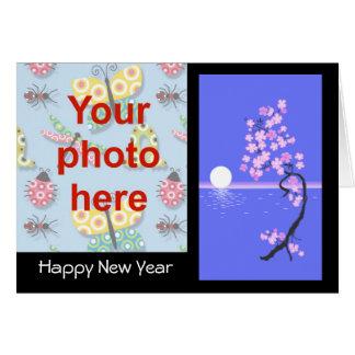 Chinese New Year Vietnamese New Year Tet add photo Greeting Card