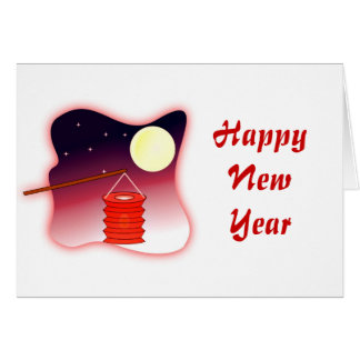 Chinese New Year Vietnamese New Year Tet lantern Card