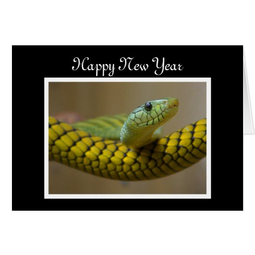 Chinese New Year Vietnamese Tet Year of the snake Card