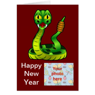 Chinese New Year Vietnamese Tet Year of the snake Cards