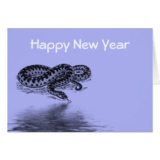 Chinese New Year Vietnamese Tet Year of the snake Greeting Card