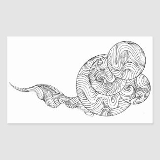 Chinese noodles rectangular sticker