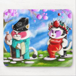 Chinese Opera Cats Mouse Pad