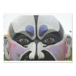 Chinese opera mask, Chiayi, Taiwan 5x7 Paper Invitation Card