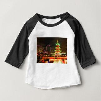 Chinese pagoda at night baby T-Shirt